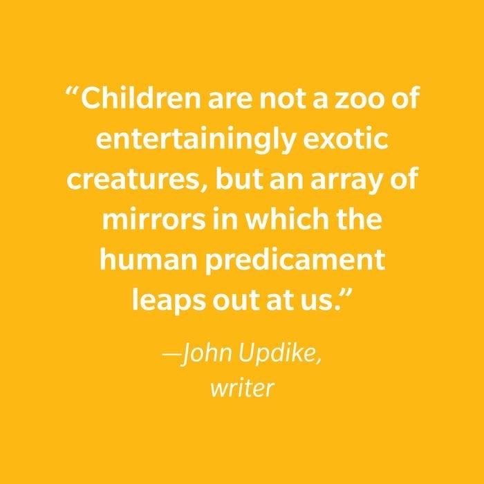 John Updike Inspiring Kids' Quotes