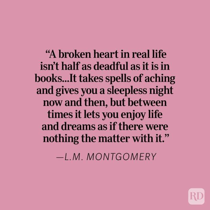 L.m. Montgomery Heartbreak Quote