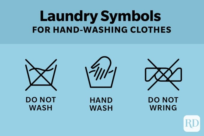 Laundry Symbols For Hand Washing Clothes