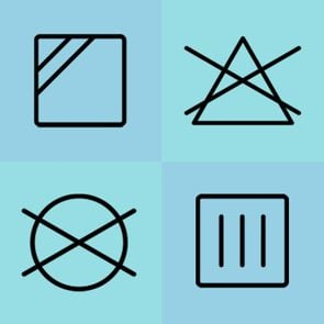Laundry Symbols collage