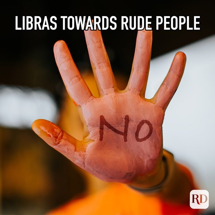 """Libras Towards Rude People meme text on image of hand saying """"no"""""""