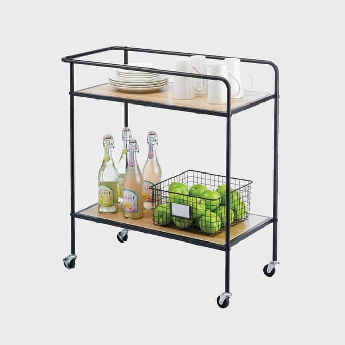 Mdesign Portable Rolling Bar Cart Organizer