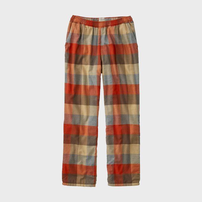 Men's Fleece Lined Flannel Fireside Lounge Pants