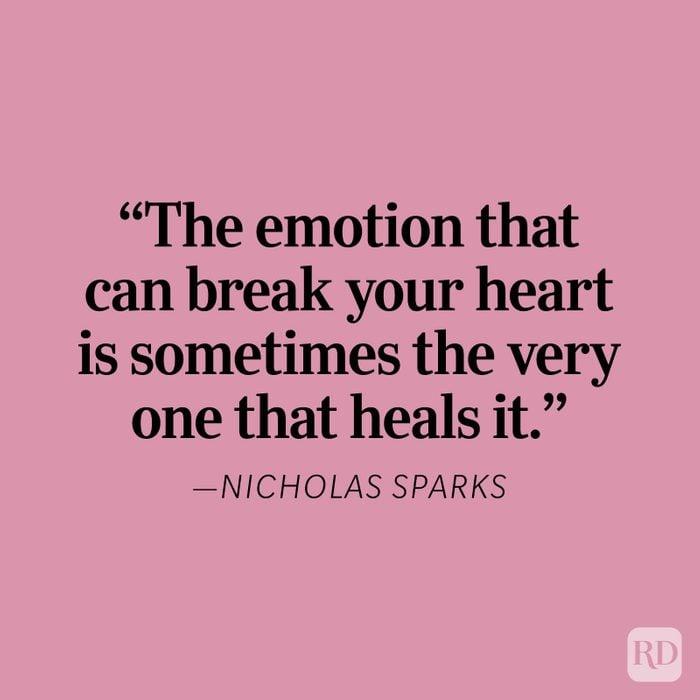 Nicholas Sparks Heartbreak Quote