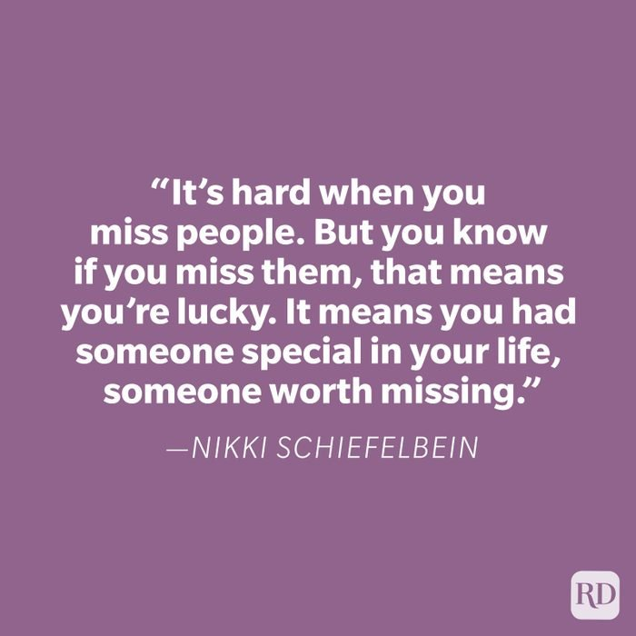Nikki Schiefelbein Miss You Quote