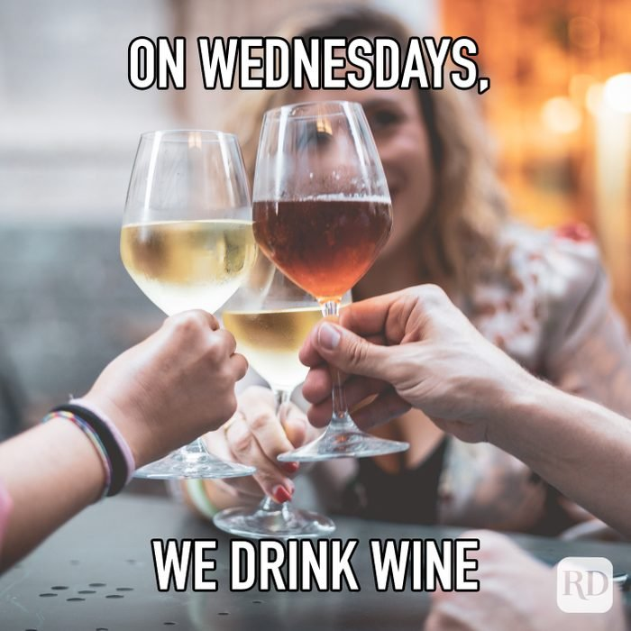 On Wednesdays We Drink Wine meme text