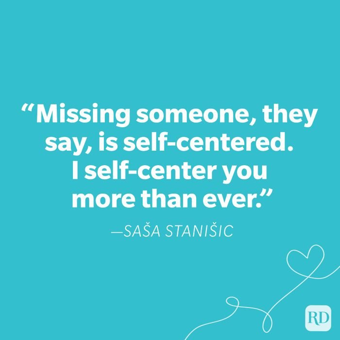 Sasa Stanisic Miss You Quote