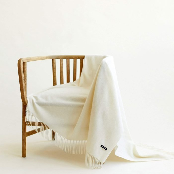 State Cashmere The Solid Fringe Throw Blanket
