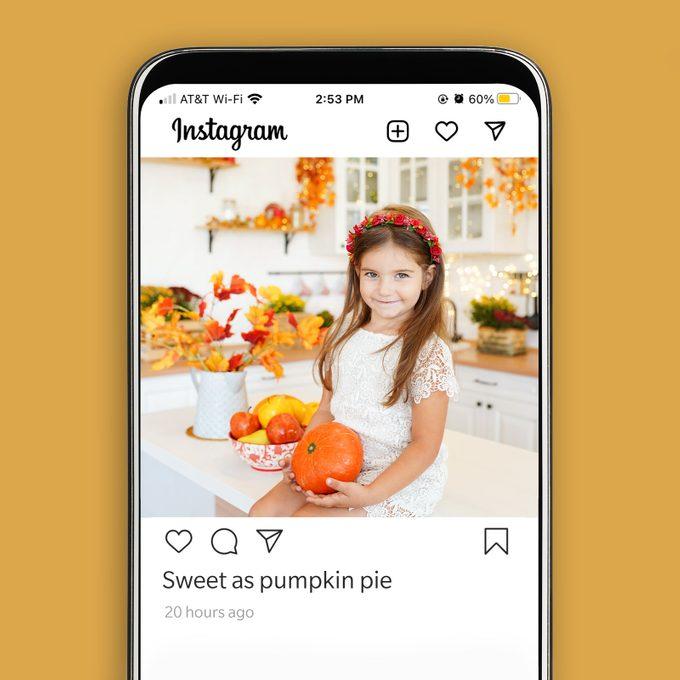 Thanksgiving Instagram Caption Sweet As Pumpkin Pie