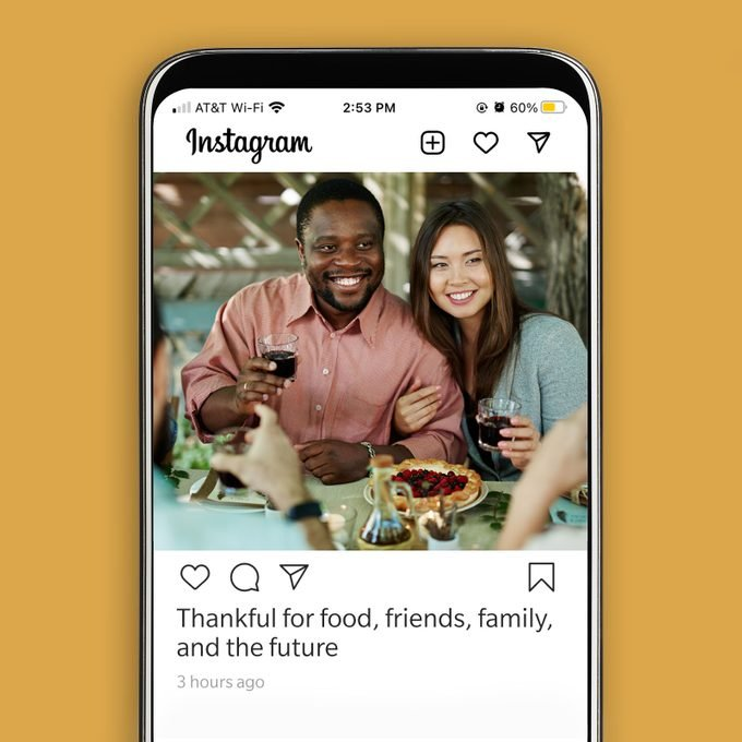 Thanksgiving Instagram Caption Thankful For Food Friends Family And The Future