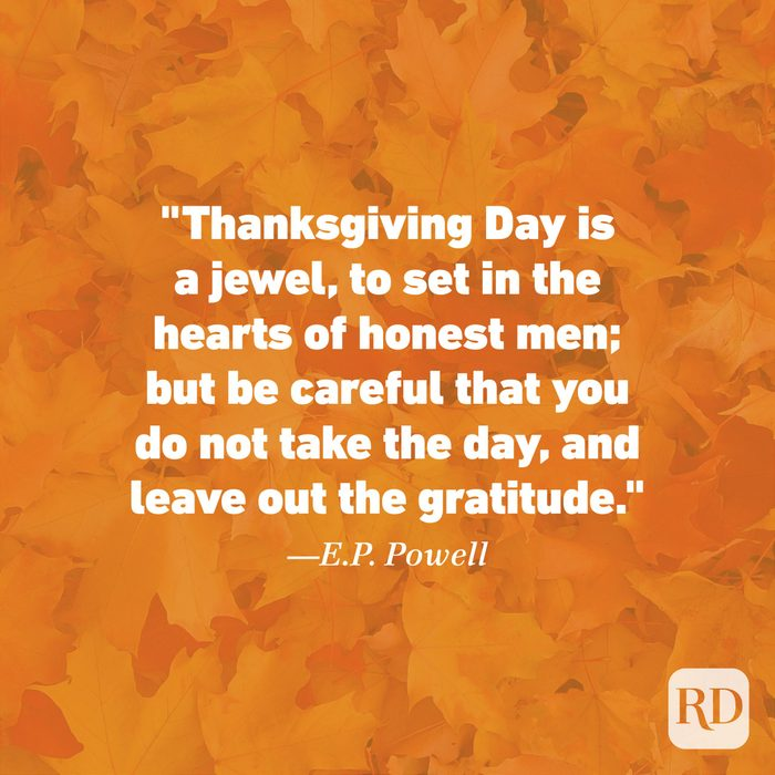 Thanksgiving Quote by E.P. Powell