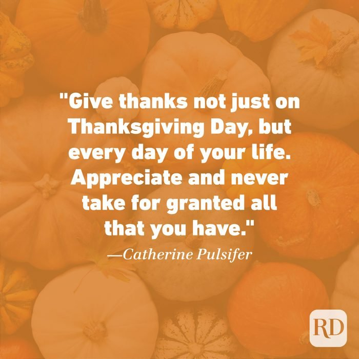 Thanksgiving Quote by Catherine Pulsifer