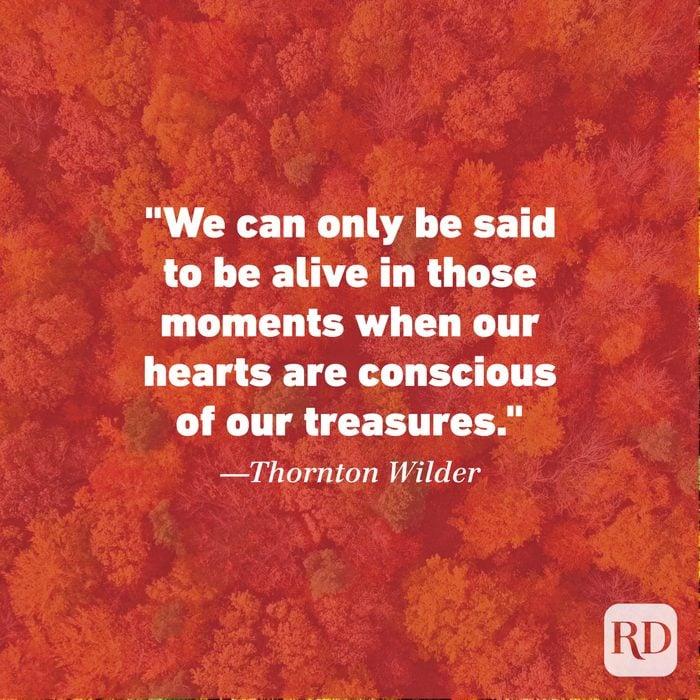 Thanksgiving Quote by Thornton Wilder