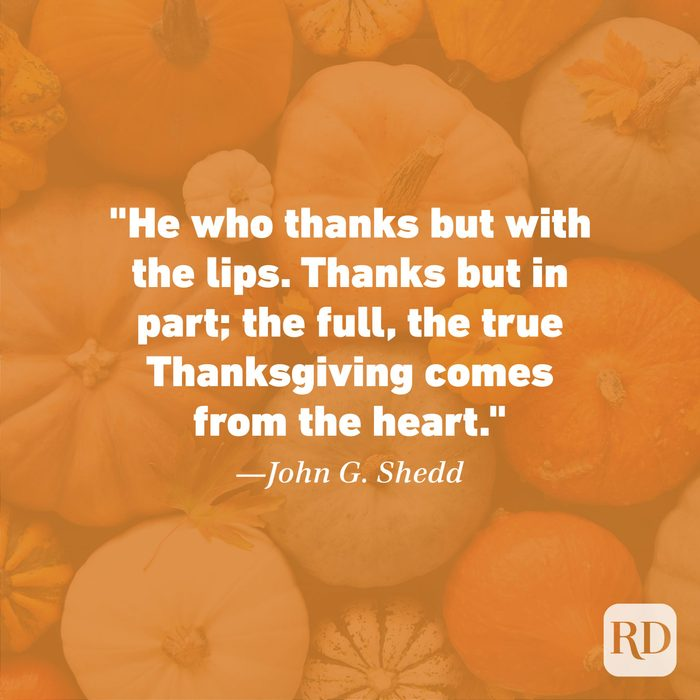 Thanksgiving Quote by John G. Shedd