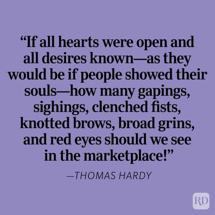Thomas Hardy Heartbreak Quote