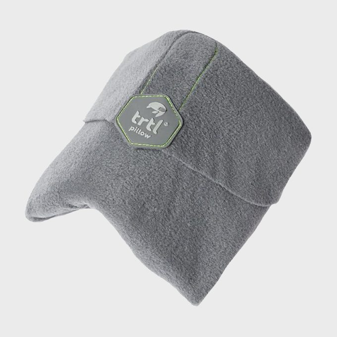 Trtl Travel Pillow On Gray Background