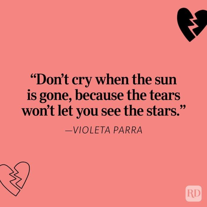Violeta Parra Heartbreak Quote