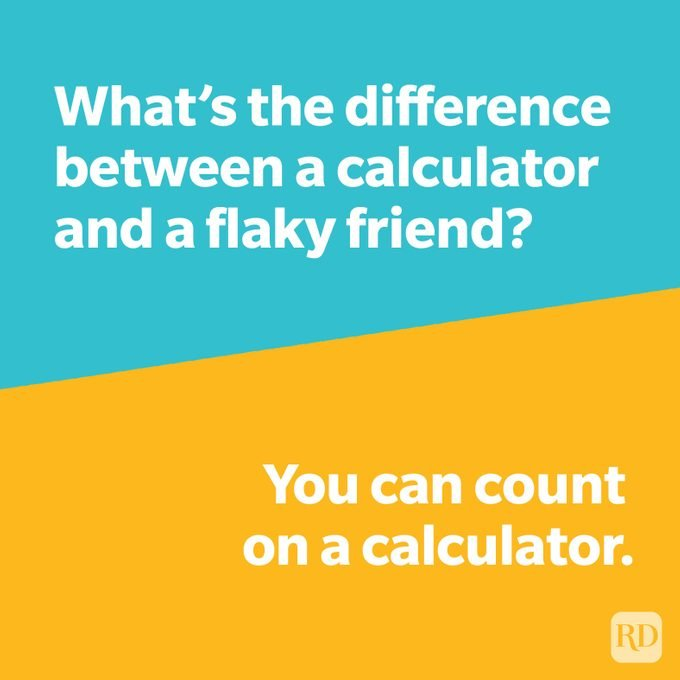 Whats The Difference Joke Calculator Vs Friend