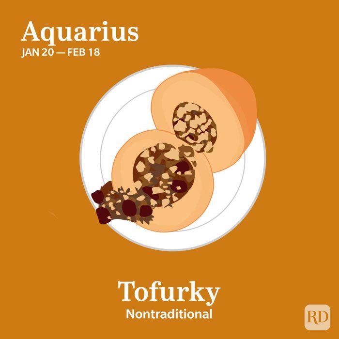 Zodiac Thanksgiving Food Aquarius
