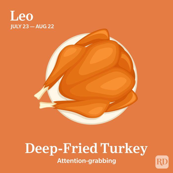 Zodiac Thanksgiving Food Leo