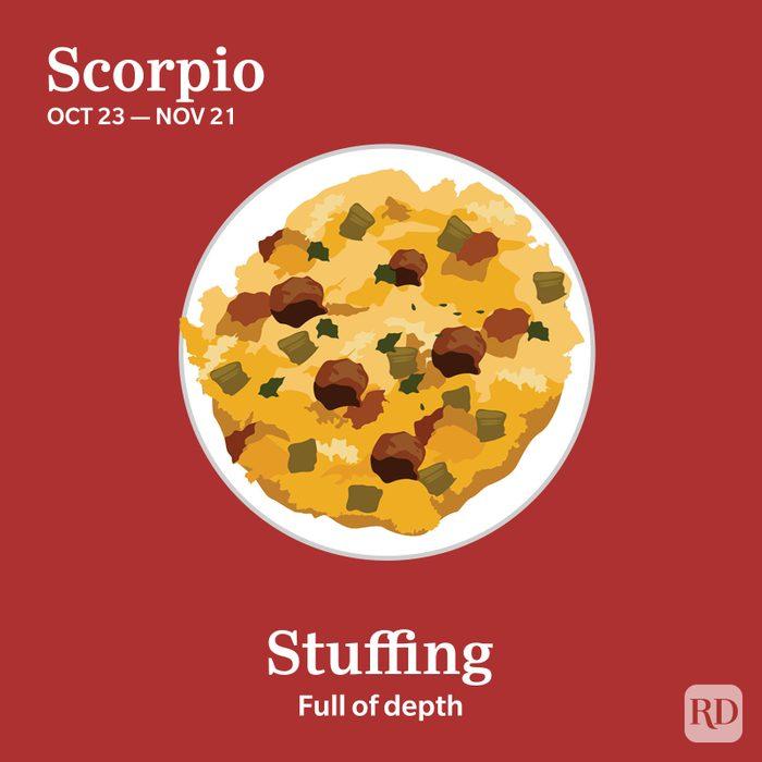Zodiac Thanksgiving Food Scorpio