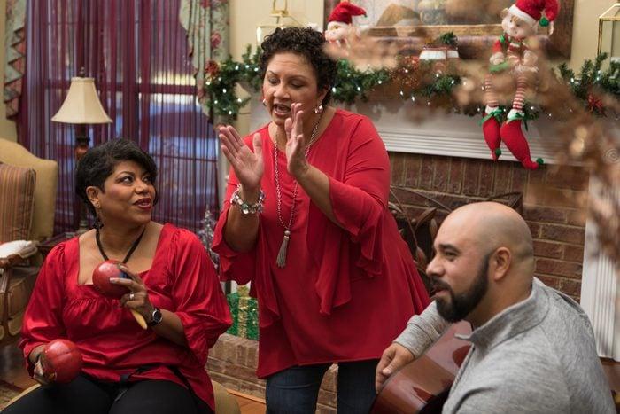 christmas carol challenge at a family christmas party