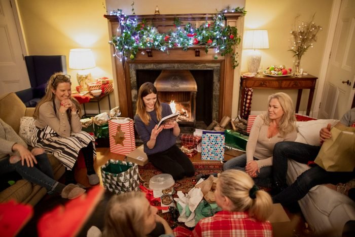 Gift Giving with Friends at christmas party