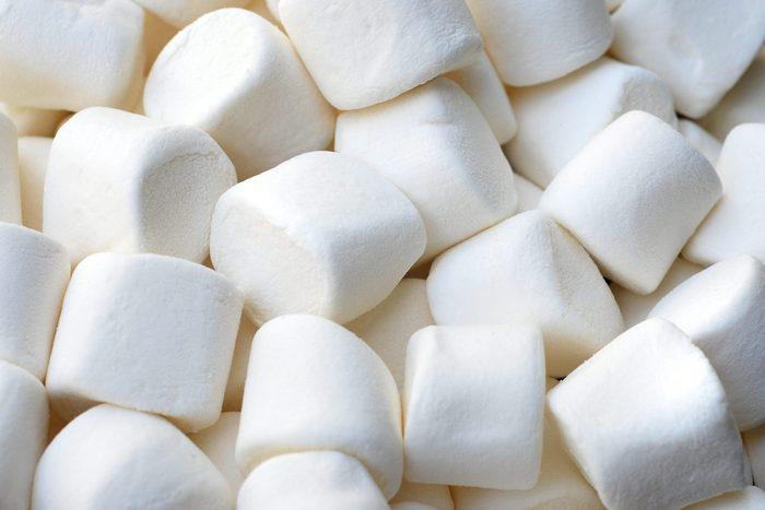 A close-up shot of marshmallows