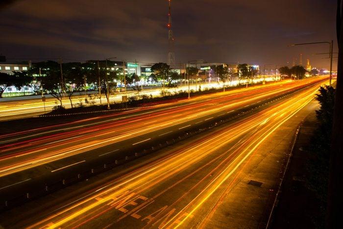 Commonwealth Avenue at Night