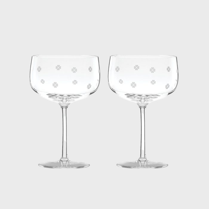 Kate Spade New York Spade Clover Champagne Coupe Glasses Via Macys