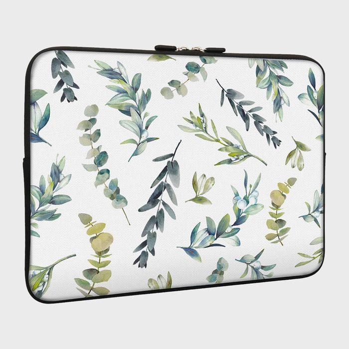 Lapac Green Leaf Laptop Sleeve Bag