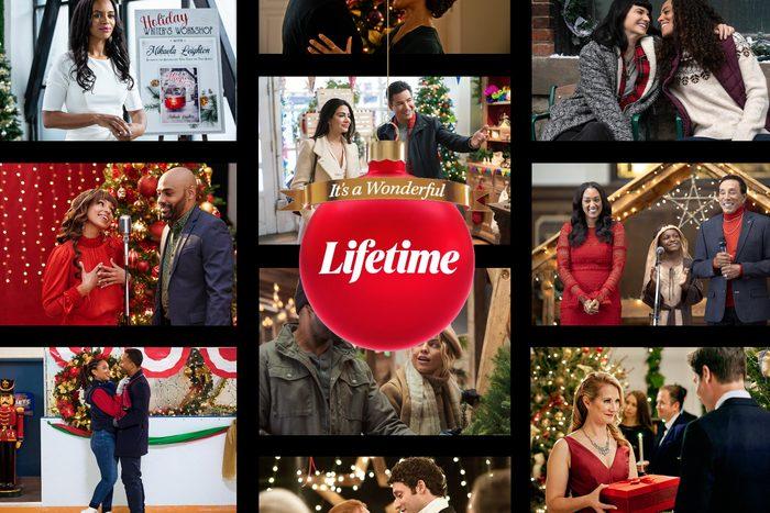 Lifetime Christmas Movies Collage
