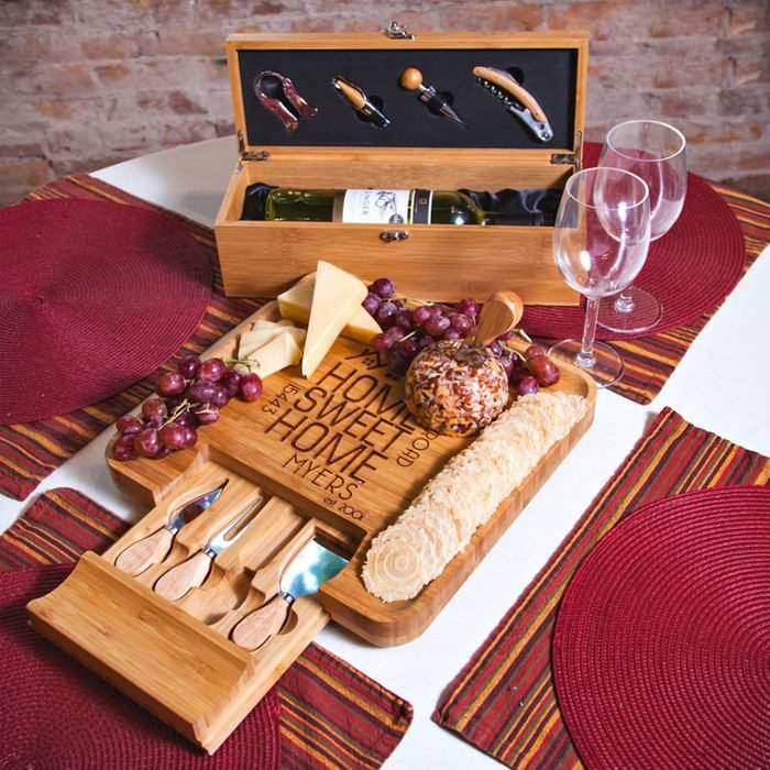 Personalized Wine And Cheese Board Via Etsy