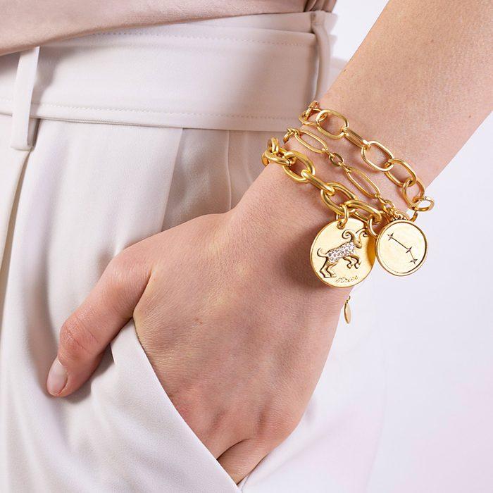 Sequin Zodiac Charm Bracelet