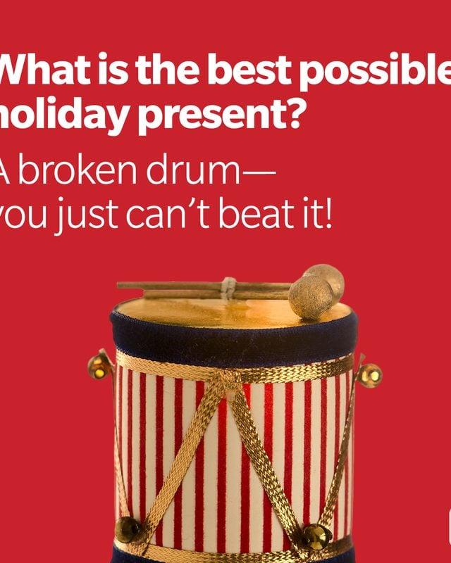 Christmas Joke   Drum Ornament With Drum Joke
