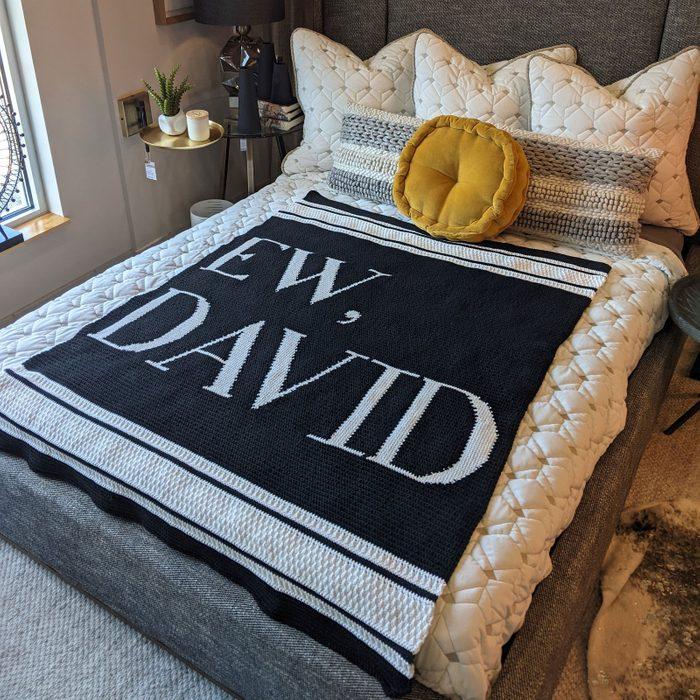 Lion Brand Yarn Ew, David Blanket Crochet Kit