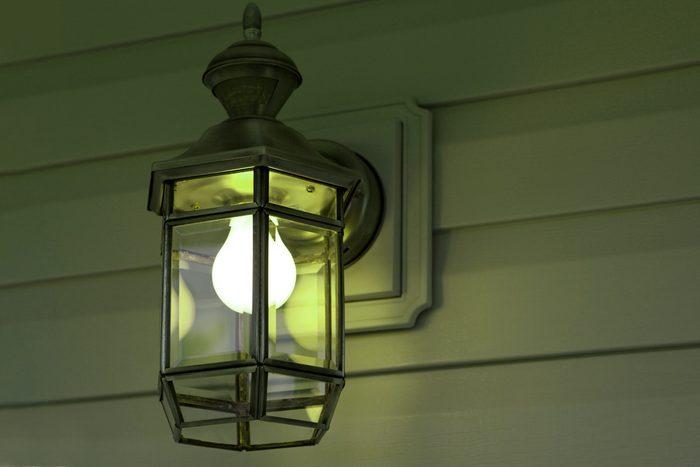 Green Porch Light close up