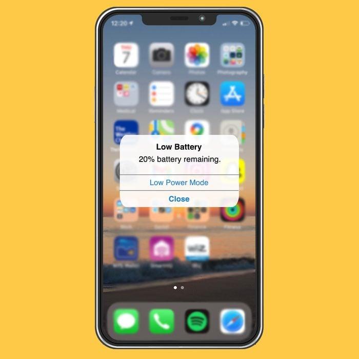 Iphone Low Power Mode Screenshot
