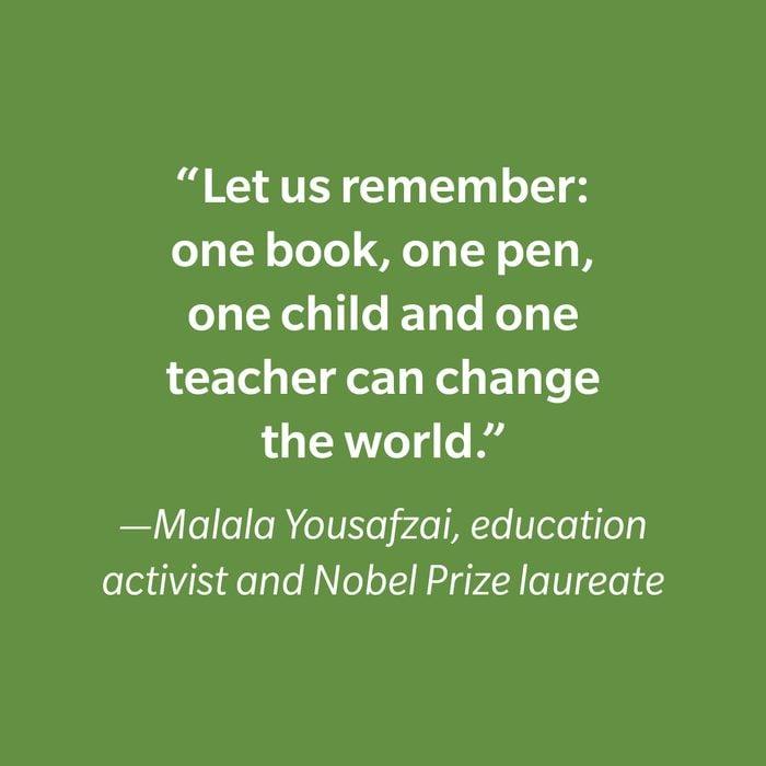 Malala Yousafzai Inspiring Kids' Quotes