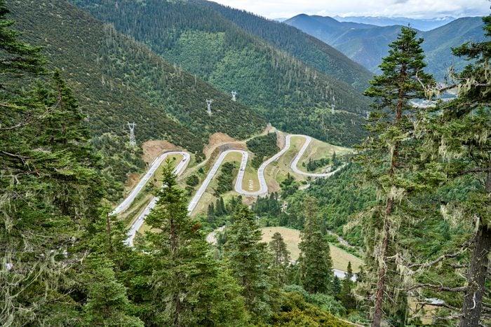 Tibet's stunning Nu Jiang Turns along Sichuan-Tibet Highway in Sichuan, China
