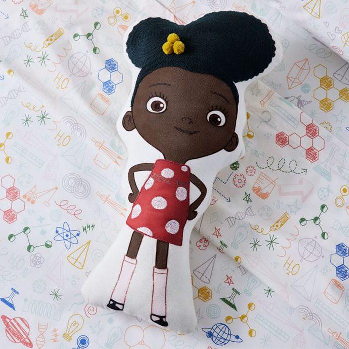 West Elm Kids' Ada Twist, Scientist Shape Pillow Via Westelm.com