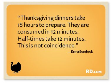 9 Funny Thanksgiving Quotes Readers Digest