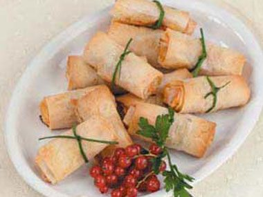 Turkey sausage wrapped in flaky phyllo dough make for a more special ...
