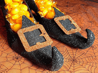 wicked witch candy dish - Crafty Halloween Decorations