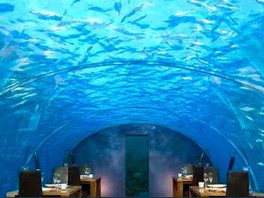 ithaa undersea restaurant rangali island maldives - Underwater World Restaurant