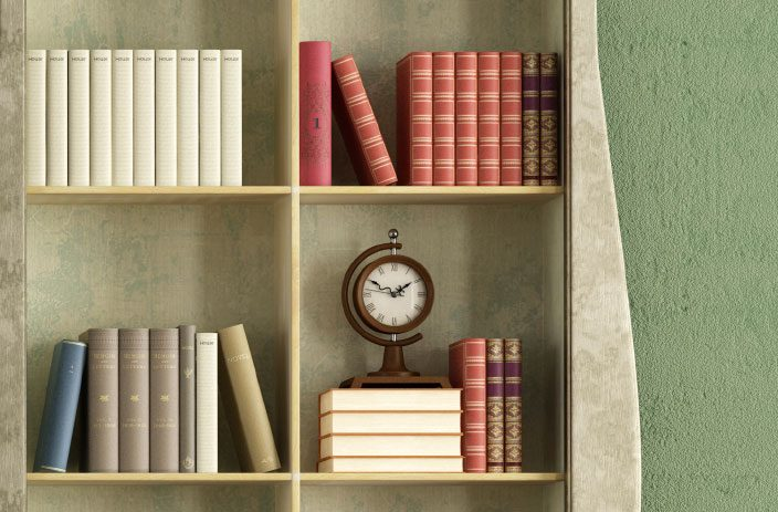 decorating-arranging-bookshelve