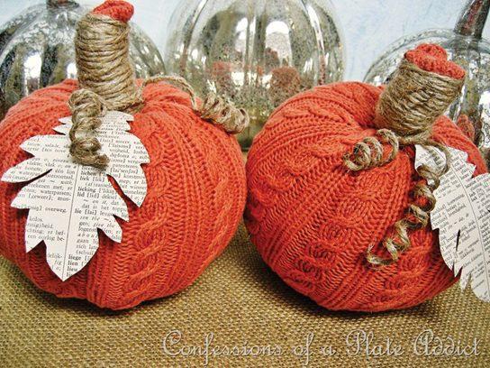 sweater weather pumpkin - Pumpkin Decoration