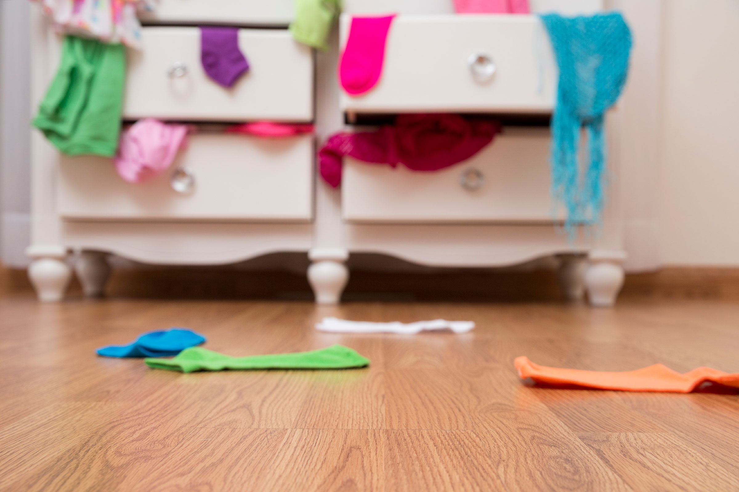 1. Store valuables in your child's sock drawer rather than  in your nightstand.