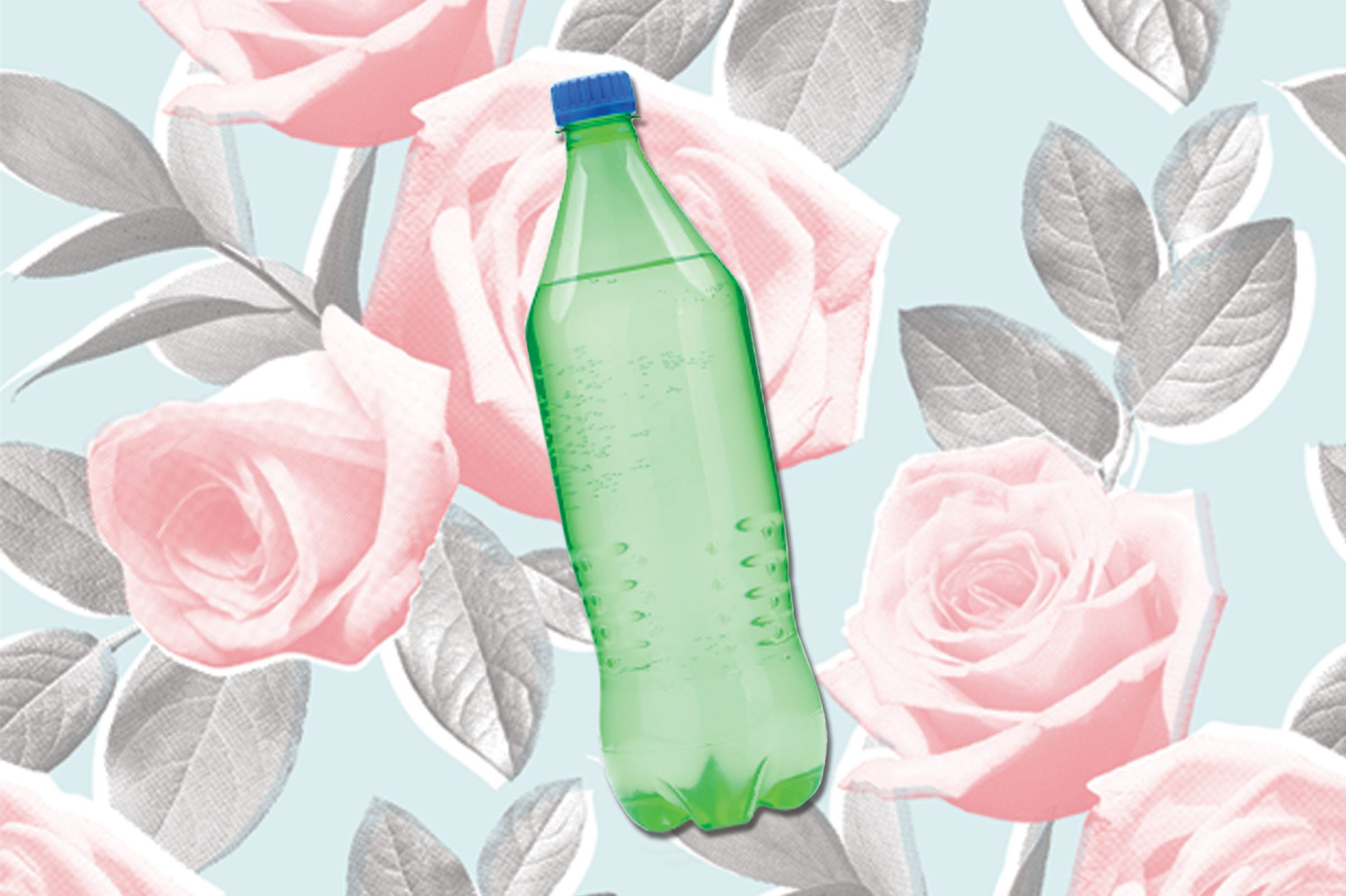 Flowers in vase change water - Soda
