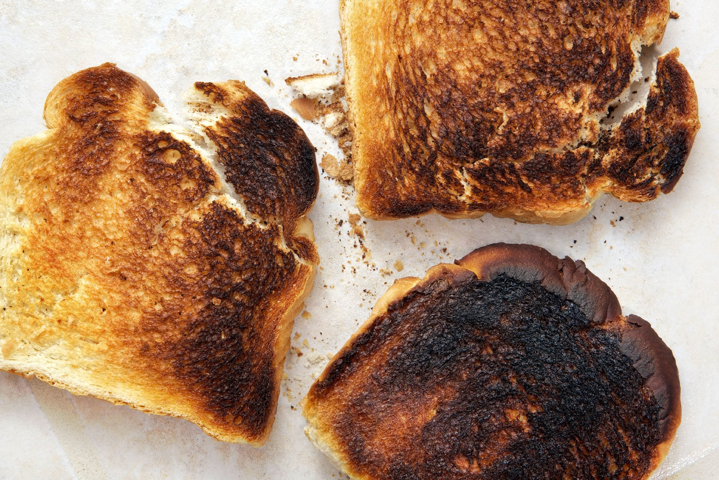 Burnt Toast Settles an Upset Stomach